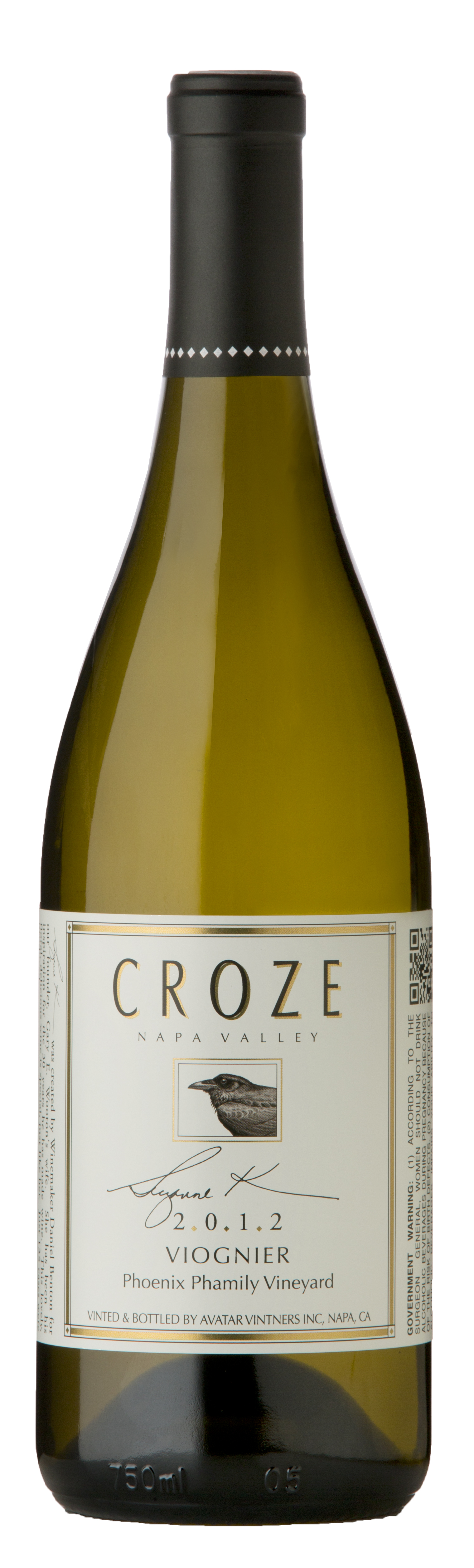 2015 Croze Viognier, Phoenix Phamily Ranch Product Image